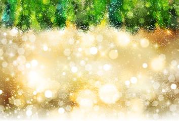 クリスマス 雪 モミの木 背景