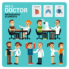See a Doctor Infographic Elements