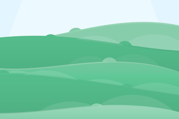 Cartoon Green Calm Mountain Background