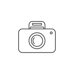 Outline camera icon isolated on white background
