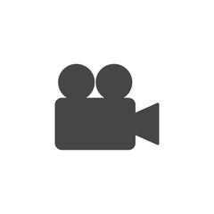 Simple video camera icon vector