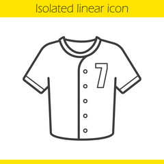 Baseball t-shirt linear icon