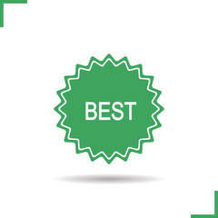 Best green product sticker icon