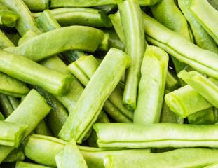 Green beans close up