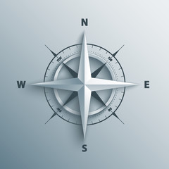 3d wind rose vector illustration.