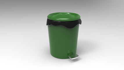 Recycle bin on background. 3d render.