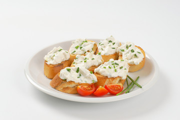 cheese toast canapes