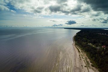 Coast of Riga gulf, Latvia.