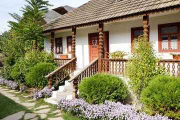Traditional peasant house in the Republic of Moldova