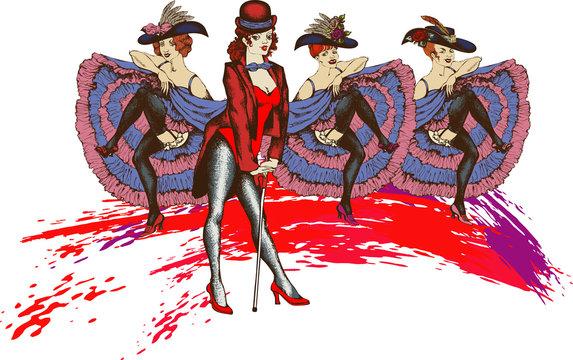 Cabaret singer. vector illustration