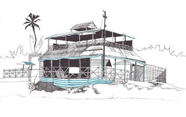 Sketch of a beach cafe