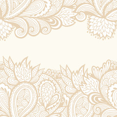 Vector floral abstract border, flower frame
