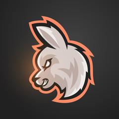 Vector illustration of alpaca. Sport mascot.