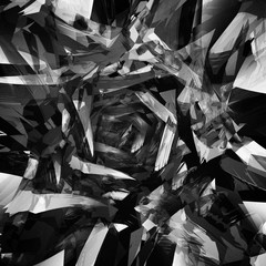 Abstract black white background of geometric patterns picture