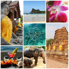 Collage Thailandia - panorami thailandesi