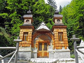 Russian chapel 1917.,built by russian prisoners of war during 1st World war,Vrsic,Slovenia,1