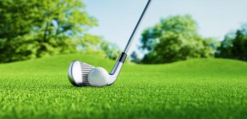 Poster Golf Golfball mit Schläger