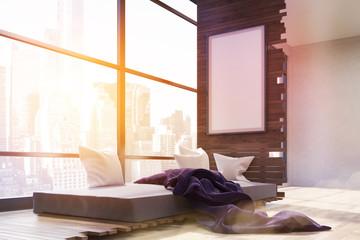 Bedroom with panoramic window.