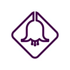 bell flower logo vector