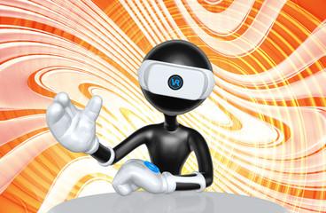 Virtual Reality VR Device Presenter