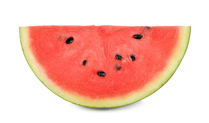 Slice of watermelon isolated on white background