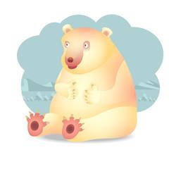 character design of a polar bear