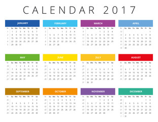 Calendar grid with numbers of
