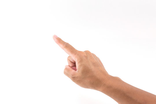 Hand pointing finger