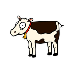 Cow. A funny picture of animal farm.