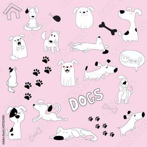 собачки картинки нарисованные