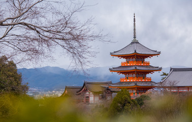Photo sur Aluminium Japon Kiyomizu-dera Temple in Kyoto, Japan