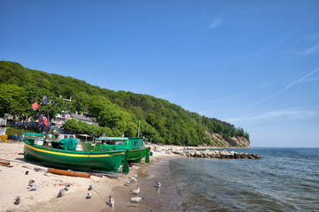 Gdynia Beach and Coastline in Poland