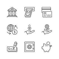 basic banking thin line icons