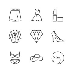 basic fashion thin line icons