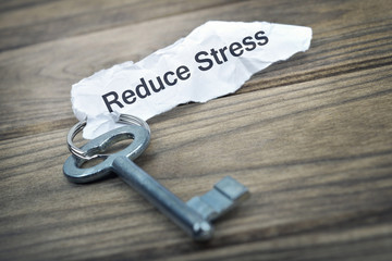 Key with message Reduce Stress