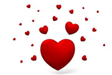 3D love, hearts card