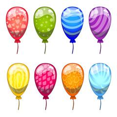 Сute cartoon vector  balloons set