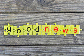 Puzzle with word Good news