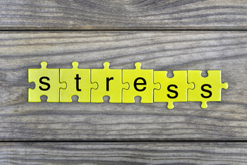 Puzzle with word Stress