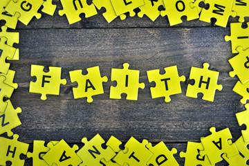 Puzzle with word Faith