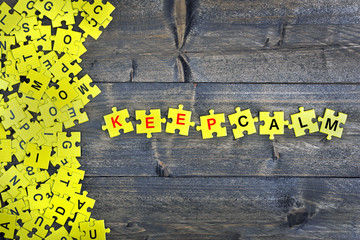 Puzzle with word Keep Calm
