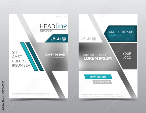 Annual report template. Brochure cover. Flyer design. Leaflet layout ...