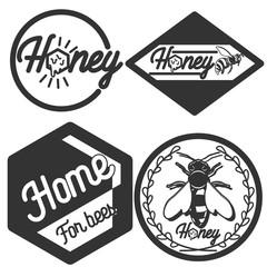 Vintage honey emblems