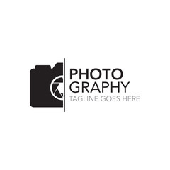 photography concept logo design vector template