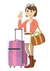 旅立つ女性