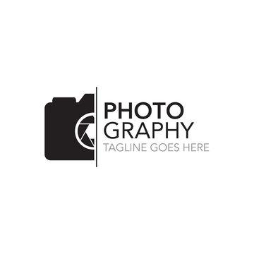 photography concept logo design vector template