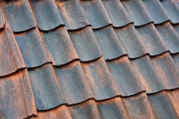 Old tile roof background