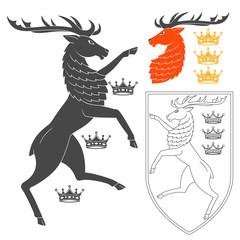 Noble Deer Illustration