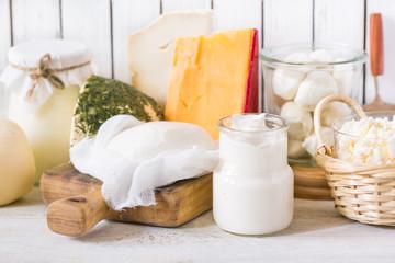 Fotobehang Zuivelproducten Fresh dairy product.