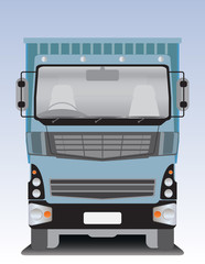 Front view of Dump  truck